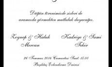 Nişan davetiyeleri